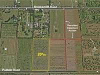 20Ac Agricultural Parcel : Fort Pierce : Saint Lucie County : Florida
