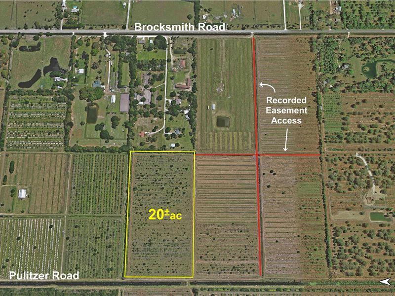 20ac Agricultural Parcel Land For Sale Fort Pierce
