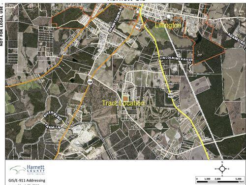 Big Acreage Near Town : Lillington : Harnett County : North Carolina