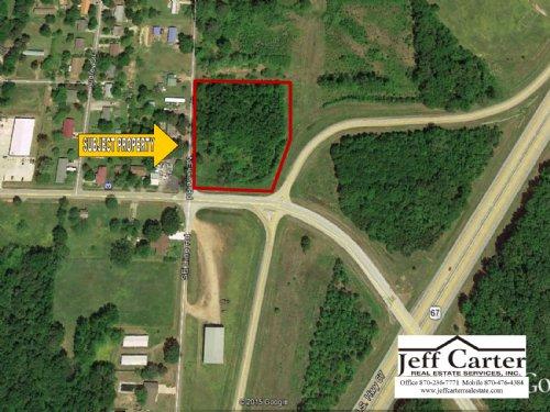 2.66 Acre +/- Commercial Lot : Bradford : White County : Arkansas