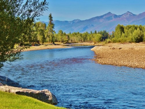 Western Montana Bitterroot River Ex : Stevensville : Ravalli County : Montana