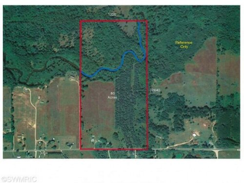 79 Acres On Little Muskegon River : Morley : Mecosta County : Michigan