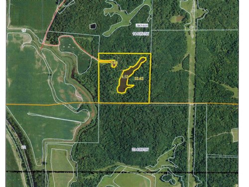 42 Acres M/l With Pond & Cabin : St. Patrick : Clark County : Missouri