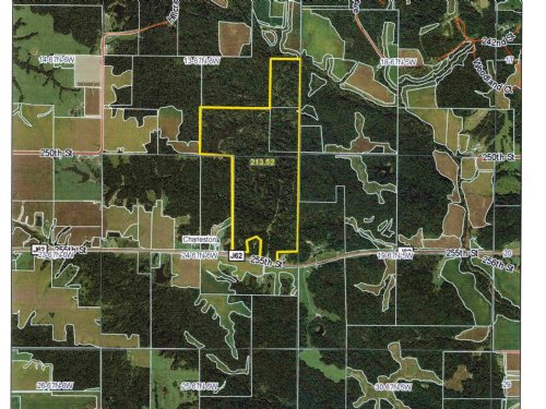 214 Acres M/l - Timber : Donnellson : Lee County : Iowa