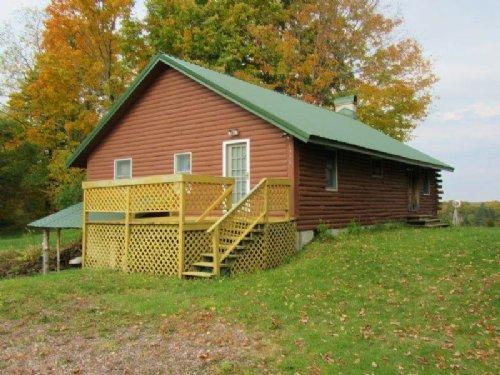 Log Home Near Salmon River 3 Acres : Osceola : Lewis County : New York