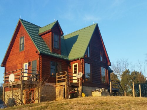 Custom Built Log Home : Greeneville : Greene County : Tennessee