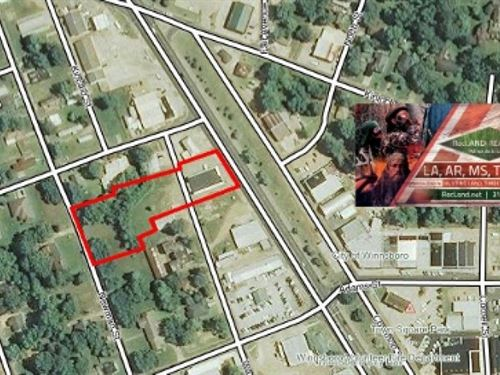 Lots - Commercial Lots With Buildin : Winnsboro : Franklin Parish : Louisiana