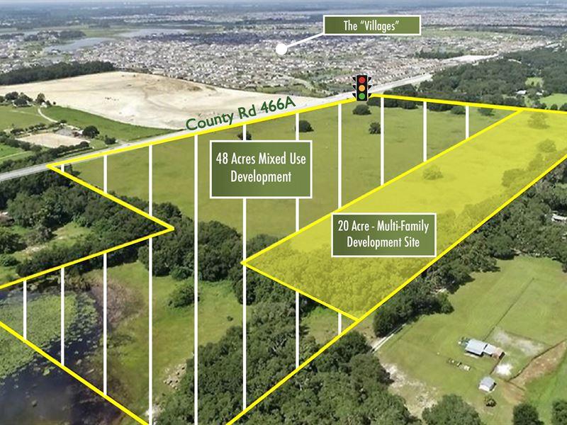 68 Acres Mixed-Use Site : Fruitland Park : Lake County : Florida
