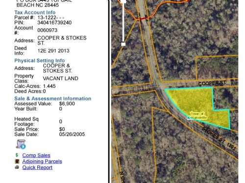 In City Limits Zoned R3 : Kenansville : Duplin County : North Carolina