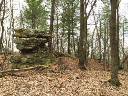 Scenic Rocky Outcrops 80 Acres : Dodgeville : Iowa County : Wisconsin