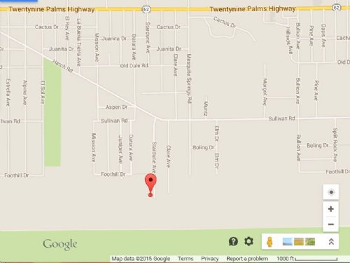Twentynine Palms Subdivision Lot : Twentynine Palms : San Bernardino County : California