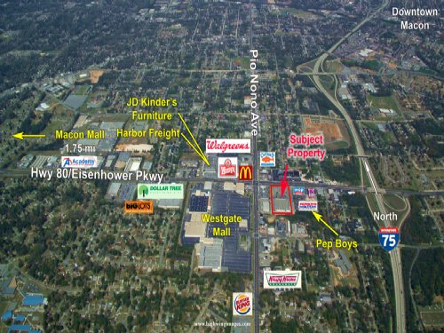 2 Outparcels For Sale : Macon : Bibb County : Georgia