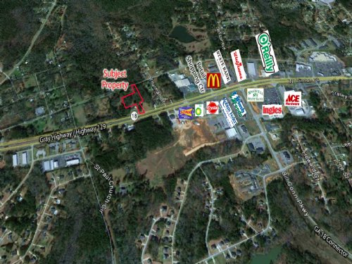 1.81 Acres On Gray Hwy : Gray : Jones County : Georgia