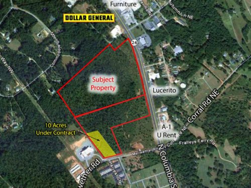 43 Acres Of Commercial Land : Milledgeville : Baldwin County : Georgia