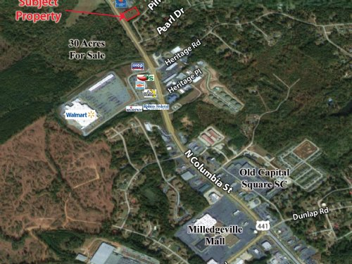 2 Acre Site On Hwy 441 : Milledgeville : Baldwin County : Georgia