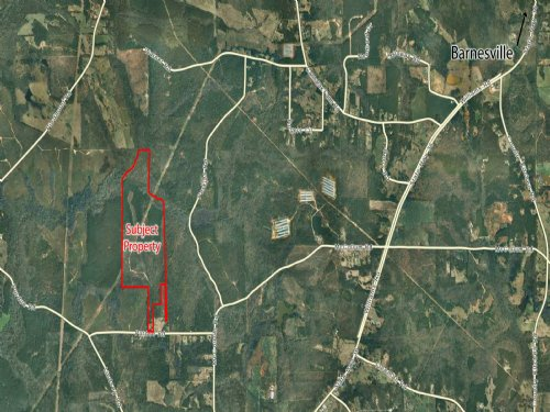 168 Acres For Sale : Barnesville : Lamar County : Georgia