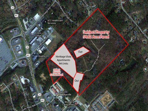 61.5 Acres On Wright Dr : Milledgeville : Baldwin County : Georgia