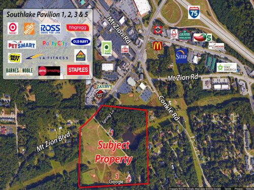 51 Acres On Mt. Zion Blvd : Jonesboro : Clayton County : Georgia