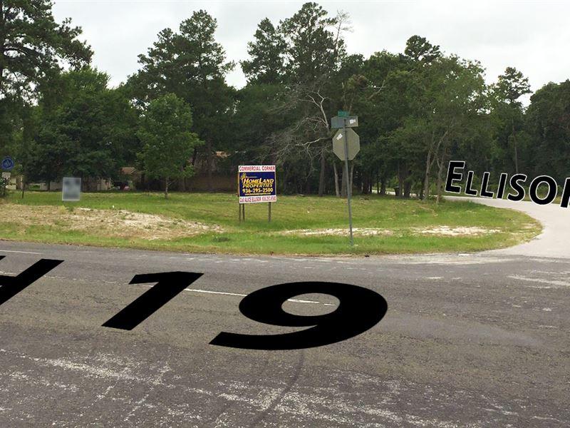 2.13 Acres Commercial Corner : Huntsville : Walker County : Texas