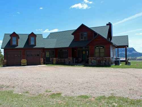 Beautiful House On The Hill : Sundance : Crook County : Wyoming
