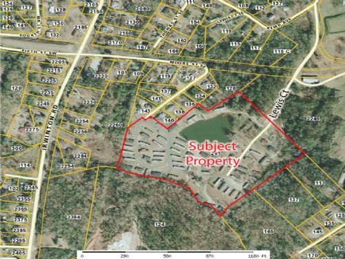 Finnigans Mobile Home Park For Sal Milledgeville Baldwin County Georgia