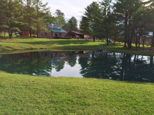 House Near Hornell With Pond : West Almond : Allegany County : New York