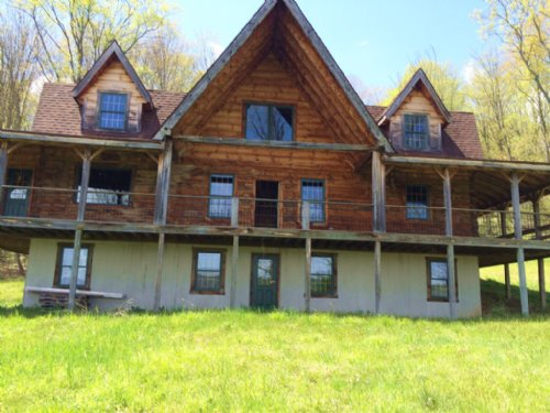 Log Home With Pond On 123 Acres : Independence : Allegany County : New York