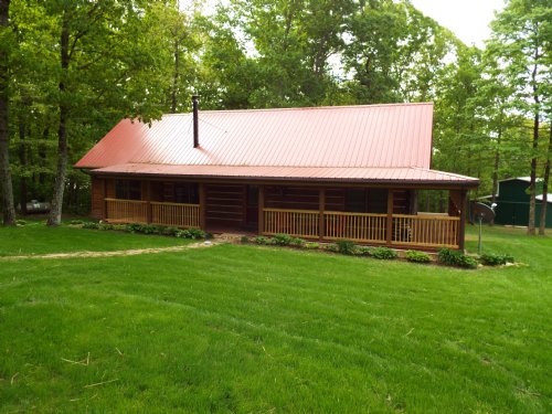 Log Home / Small Farm Near Rockwood : Rockwood : Morgan County : Tennessee