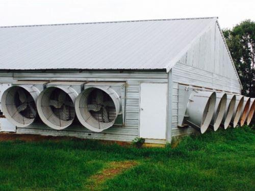 Broiler Farm Land Home Morton Ms Sc : Morton : Scott County : Mississippi