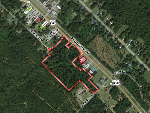 Hwy 80 - 15.5 Ac : Jeffersonville : Twiggs County : Georgia