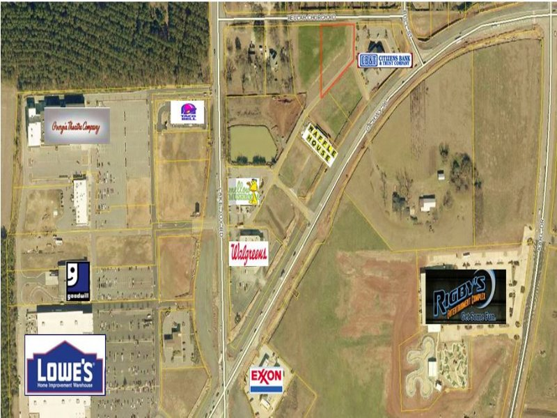 99 Acre Commercial Lot Warner Robins Houston County Georgia