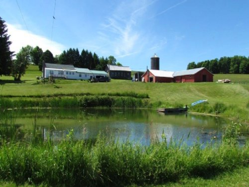 Home On 122 Ac Pond, Woods, Views : Cincinnatus : Cortland County : New York