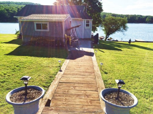 Waterfront Home On Rushford Lake : Rushford : Allegany County : New York
