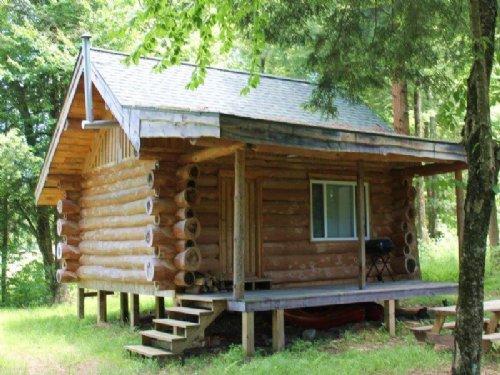 Log Cabin On Fish Creek Near Forest : Camden : Oneida County : New York