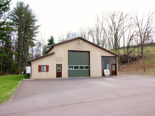 10 Acres, Garage, Office : Benton : Columbia County : Pennsylvania