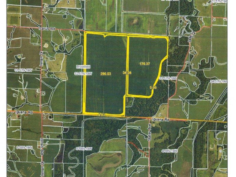 520 Acres M/L Bottom Farm : Brookfield : Linn County : Missouri