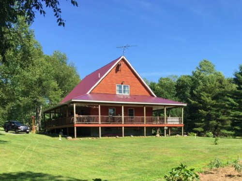 Log Home, With It All, On 30+ Acres : Russia : Herkimer County : New York