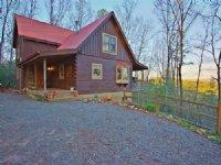 True Log Home With Blue Mtn Views : Blue Ridge : Fannin County : Georgia