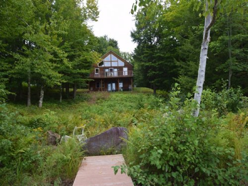 Sebec Lake Log Home : Sebec : Piscataquis County : Maine