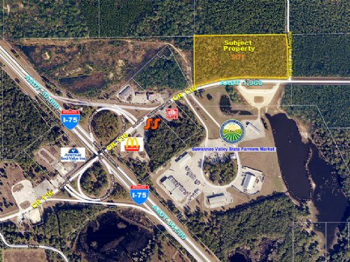 I-75 & Cr 136 Interchange : White Springs : Suwannee County : Florida