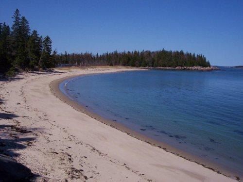 Loon Point Beach & Cromwell Pond : Jonesport : Washington County : Maine
