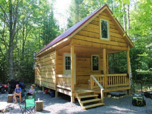 35 Acres Cabin Bordering State Land : Croghan : Lewis County : New York