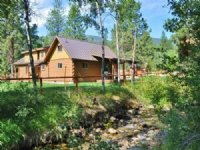 Western Montana Creekside Log Home : Hamilton : Ravalli County : Montana