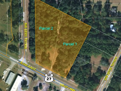 Us 27 Commercial Lots : High Springs : Alachua County : Florida