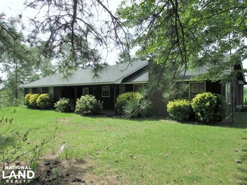 Lumpkin 29 Acres With Ranch Home : Lumpkin : Stewart County : Georgia