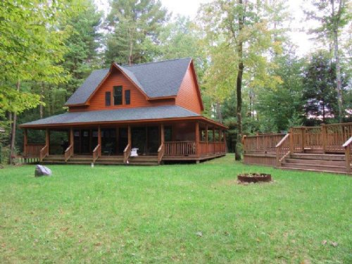 Lodge 6 Cabins On Private Lake : Altmar : Oswego County : New York