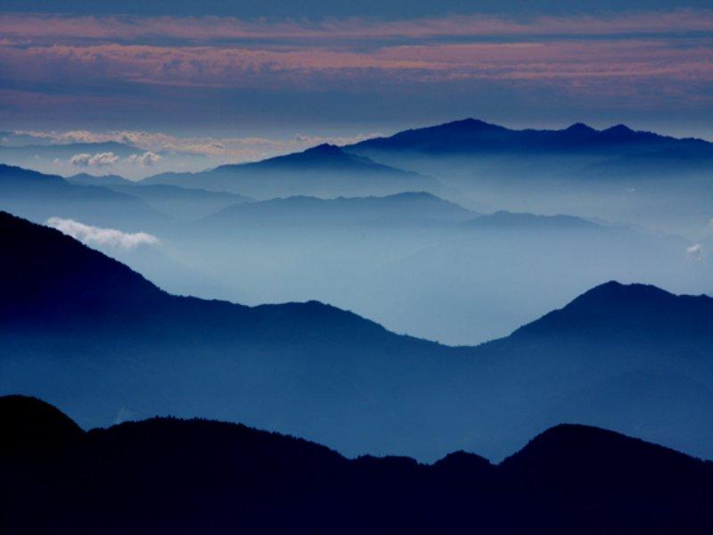 Long Range Mountain Views : Fleetwood : Ashe County : North Carolina