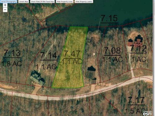 Lot 80 Is A 1.1 Water Front Lot : Cedar Grove : Carroll County : Tennessee