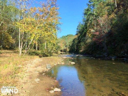 Talking Rock Creek Frontage : Talking Rock : Pickens County : Georgia