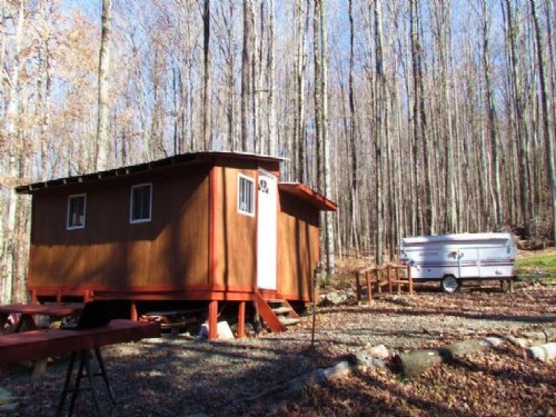 12 Acres Cabin Camper Near Forest : German : Chenango County : New York
